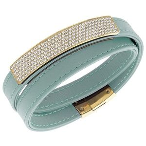 Swarovski Vio Leather Wrap Bracelet